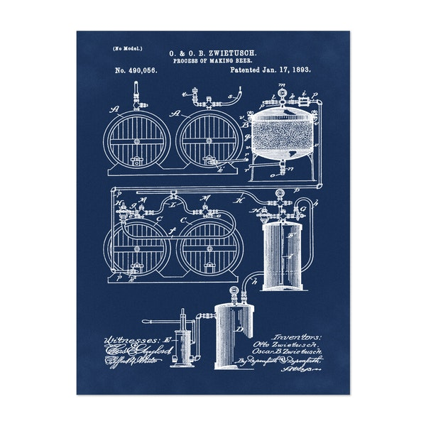Brewery Patent 1891 Blue by Bill Cannon