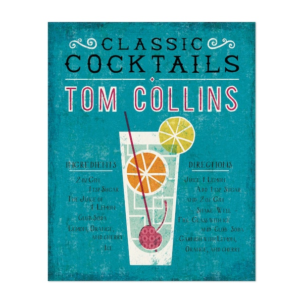 Classic Cocktails Tom Collins by Michael Mullan