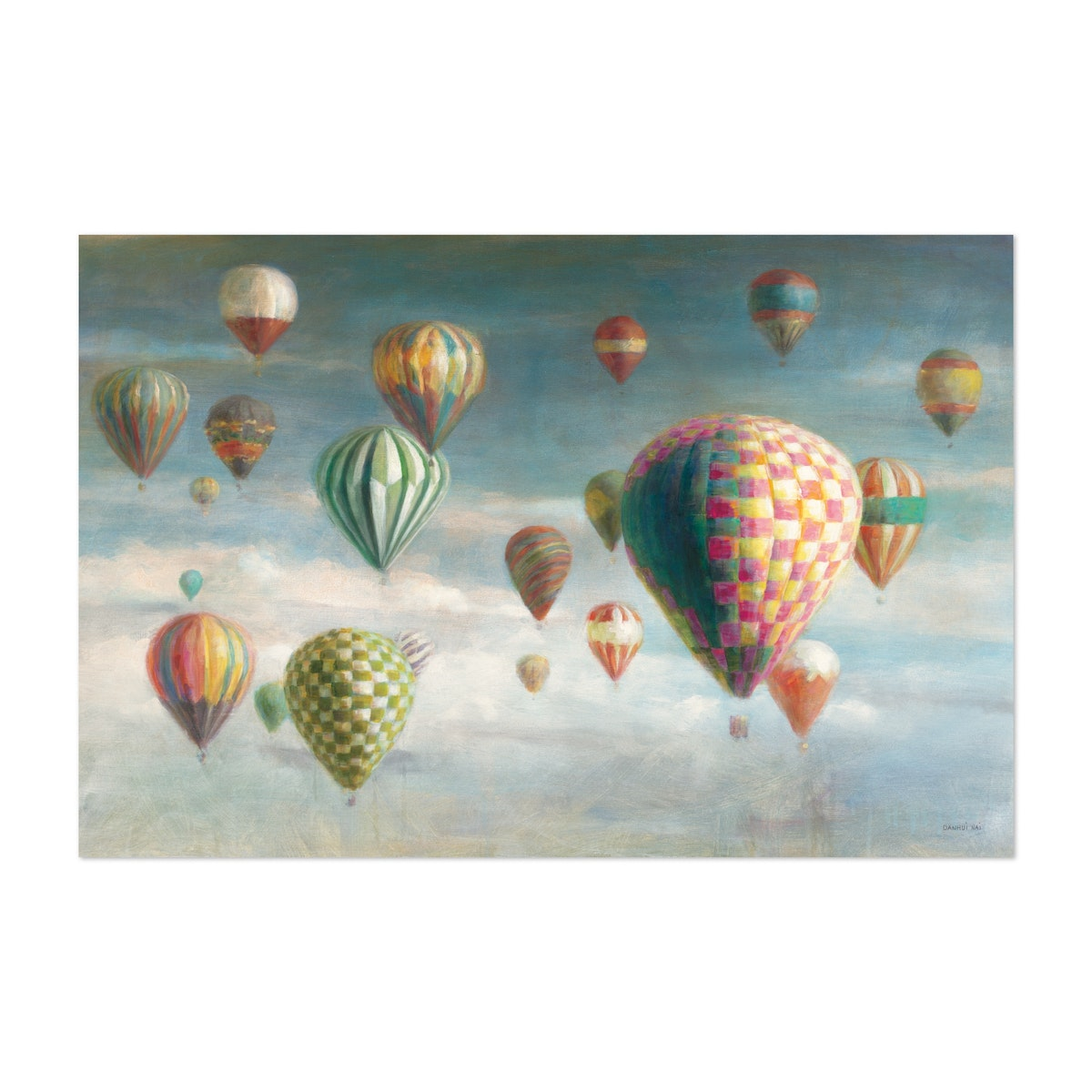 Hot Air Balloons with Pink