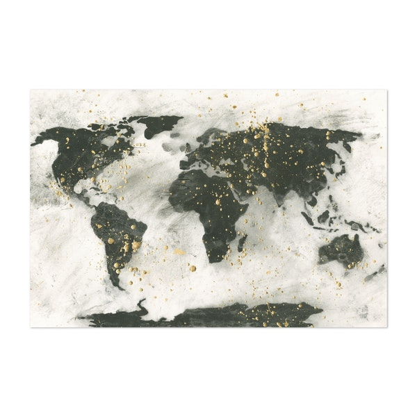 World Map Gold Speckle by Chris Paschke