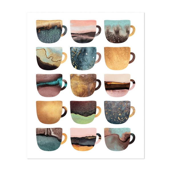 Earthy Coffee Cups by Elisabeth Fredriksson