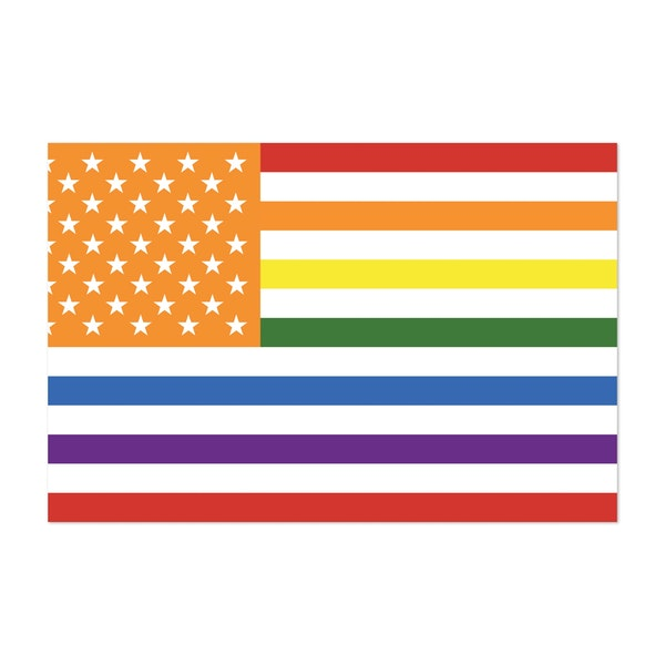 Lgbt Pride Us Flag, In Rainbow Pride Colours by Clifford Hayes | Hayes Design