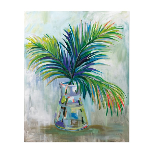 Palm Leaves I Red by Jeanette Vertentes