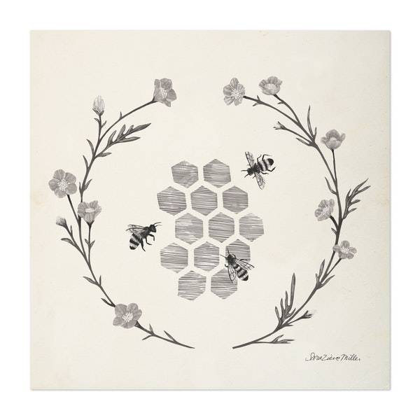 Happy to Bee Home III Neutral by Sara Zieve Miller