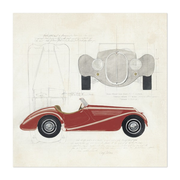 Roadster I Red Car by Avery Tillmon