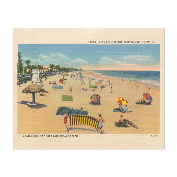 Beach Postcard I by Wild Apple Portfolio