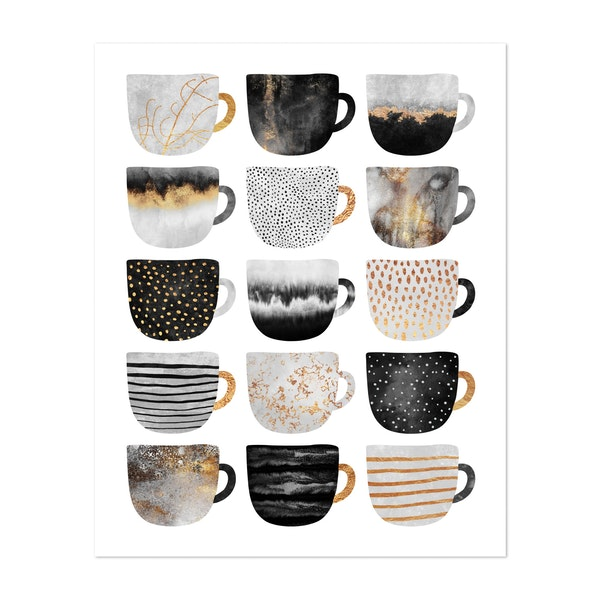 Pretty Coffee Cups by Elisabeth Fredriksson
