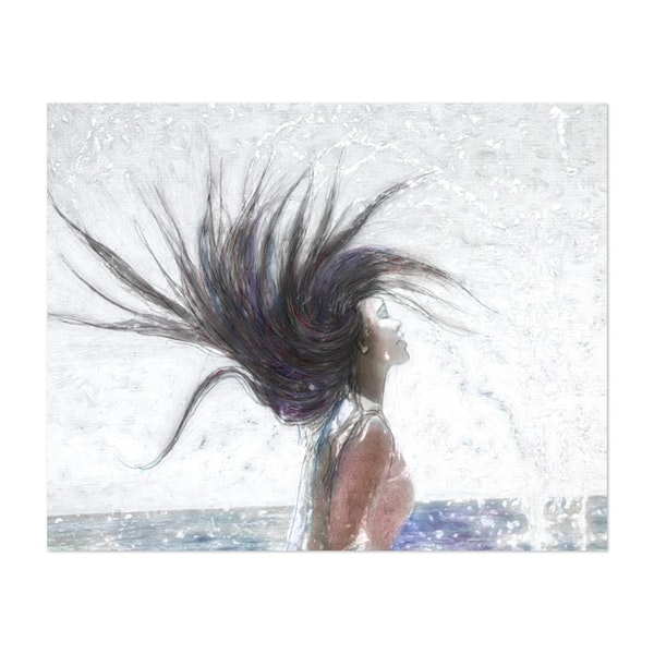 Feeling The Energy Of The Sea Sketch by OLena Art