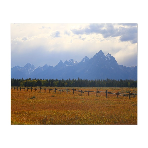 Beautiful of the Grand Teton Mountains. by Bahjat Shariff