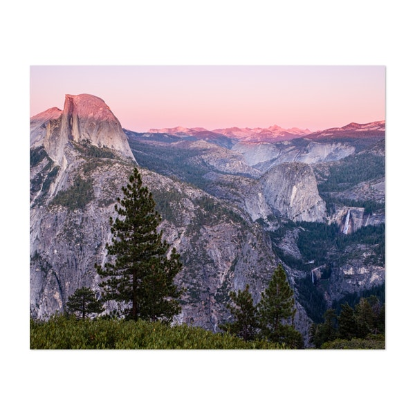 Half Dome and Falls by Jonathan Sprigler