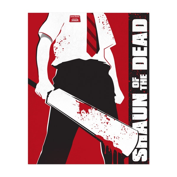 The Shaun of the Dead movie art inspired by Golden Planet Prints