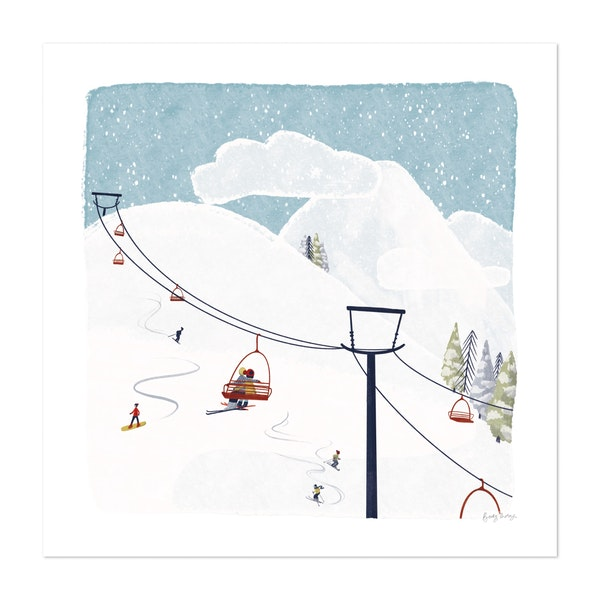 Winter Sports IV by Becky Thorns