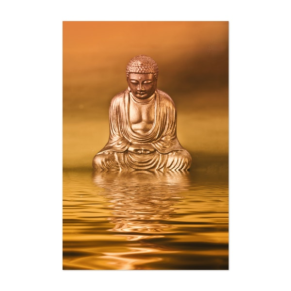 Zen Golden Buddha And Water by Andrea Haase