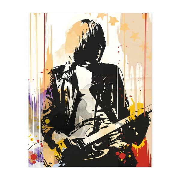 Johnny Ramone pop art style print by 2ToastDesign