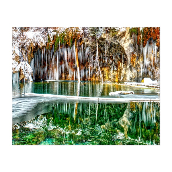 A Serene Chill - Hanging Lake Glenwood Canyon Colorado by OLena Art by OLena Art