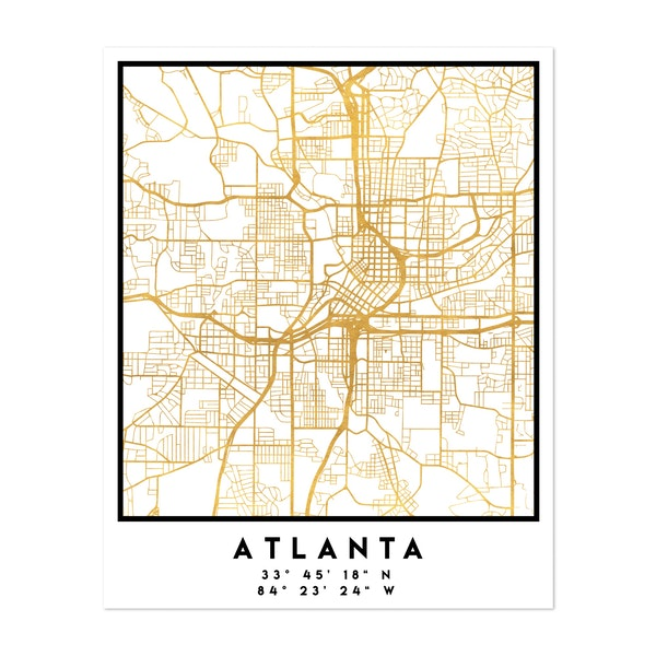 Atlanta Street Map by Emiliano Deificus