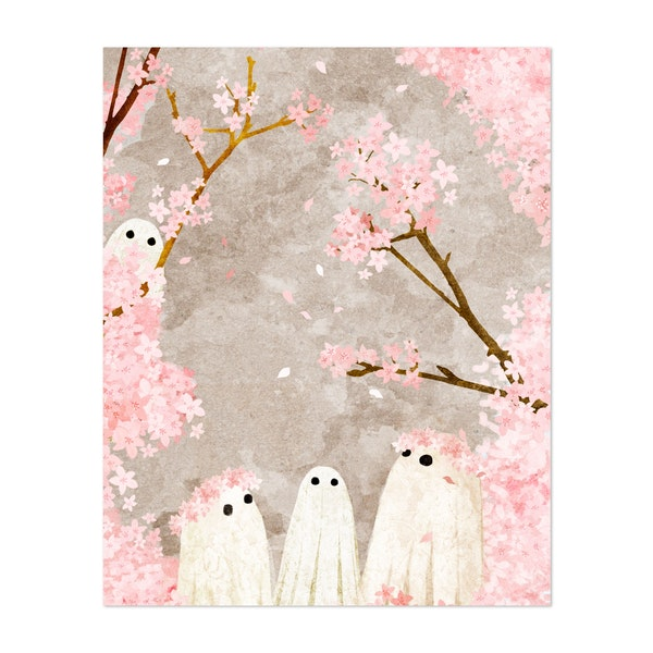 Cherry Blossom Viewing by Katherine Blower Illustrations & Designs