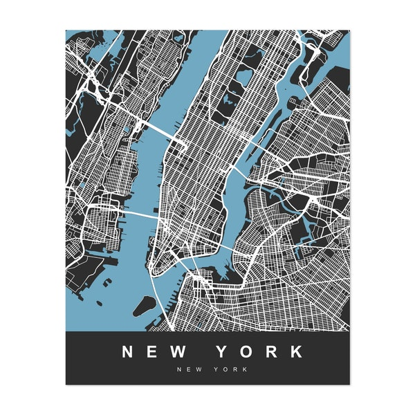 New York City Map, United States by Urban Maps