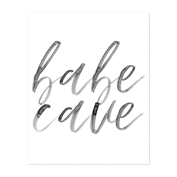 Babe Cave Watercolor Script by Typologie Paper Co