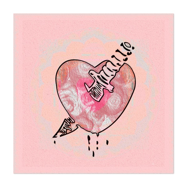 Heartbreak Dagger Tattoo Art Print by Carlita Peartree