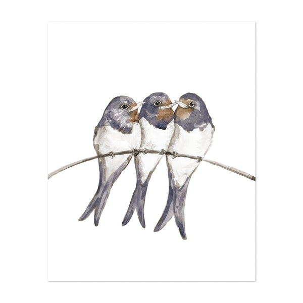 Three young swallows by Bwiselizzy