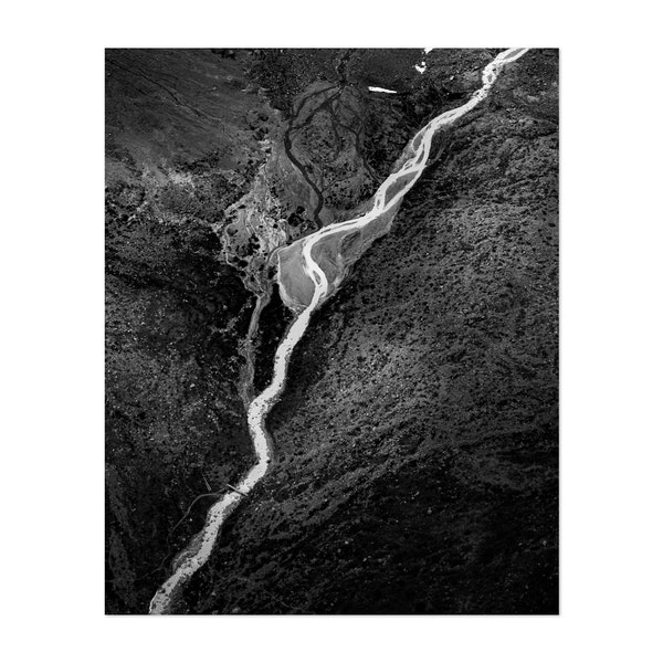 wild mountain creek in black and white by Marcel Gross