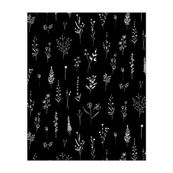 Black Wildflowers by Anis Illustration