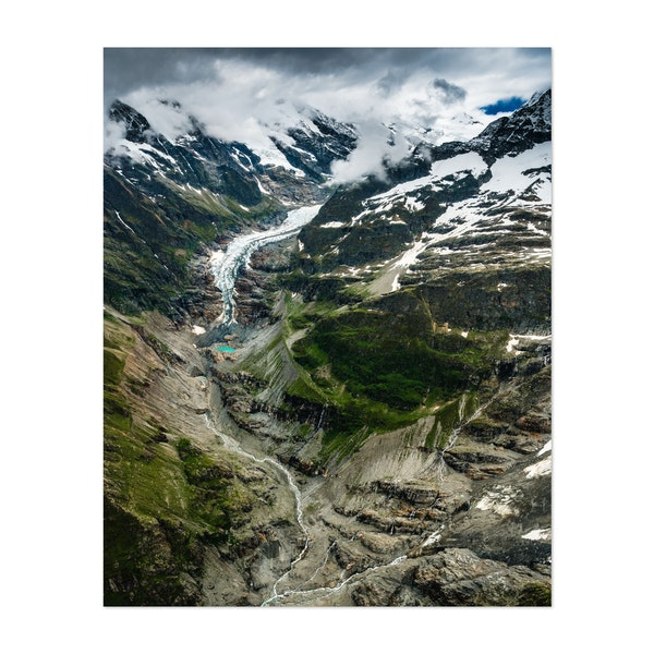 aerial view of Lower Grindelwald Glacier in the Bernese Alps by Marcel Gross