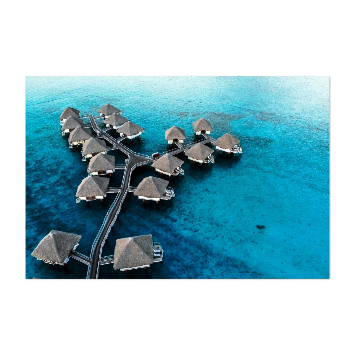Bora Bora Bungalows from Above