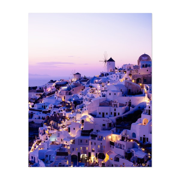Santorini Night by ArtPrInk