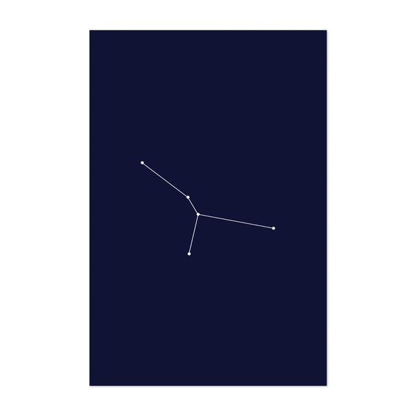 Cancer Zodiac Constellation Dark Blue by Beyond the Clouds