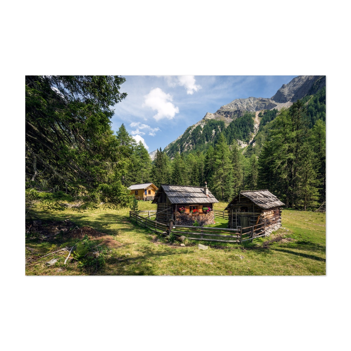 Classic Wooden Houses At Moosboden