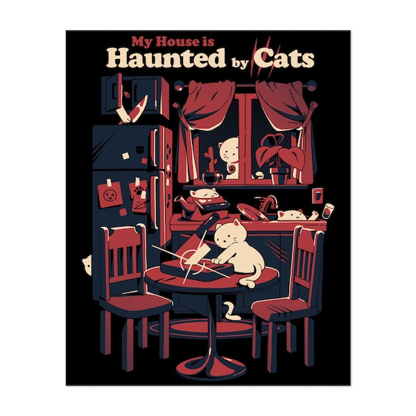 Haunted by cats by Ilustrata