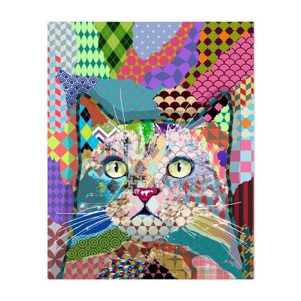 Multicolor cat 671 by Art by Lucie