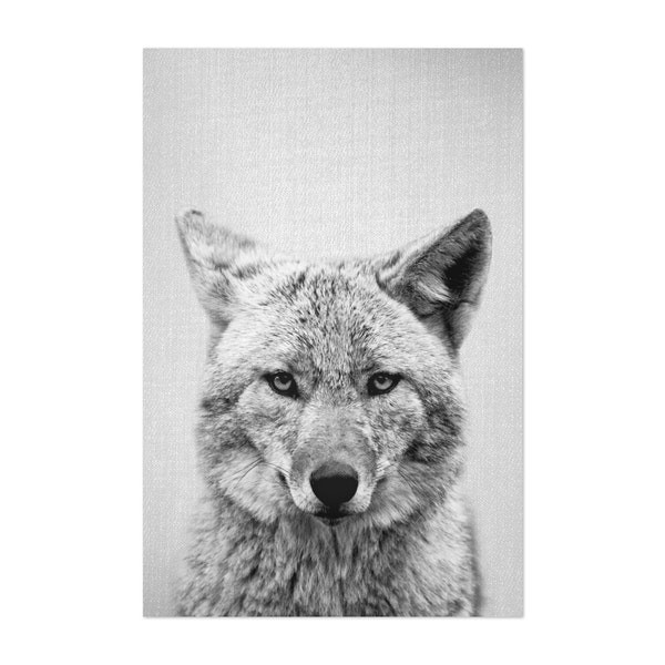 Coyote - Black & White by Gal Design