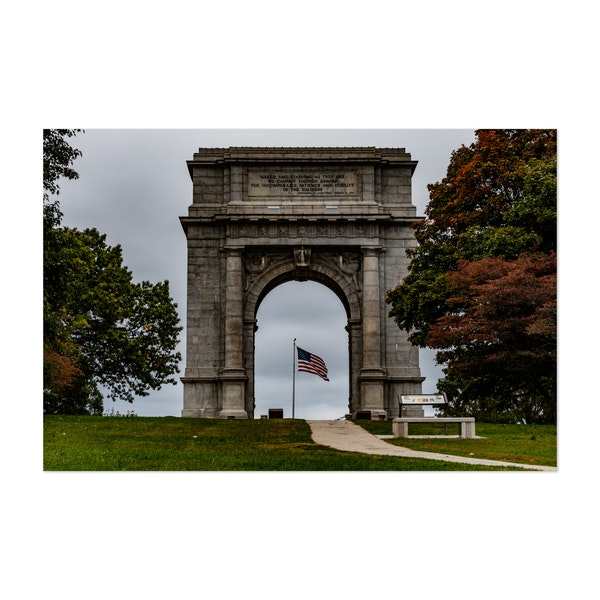 National Memorial Arch and American Flag by Walt Bilous