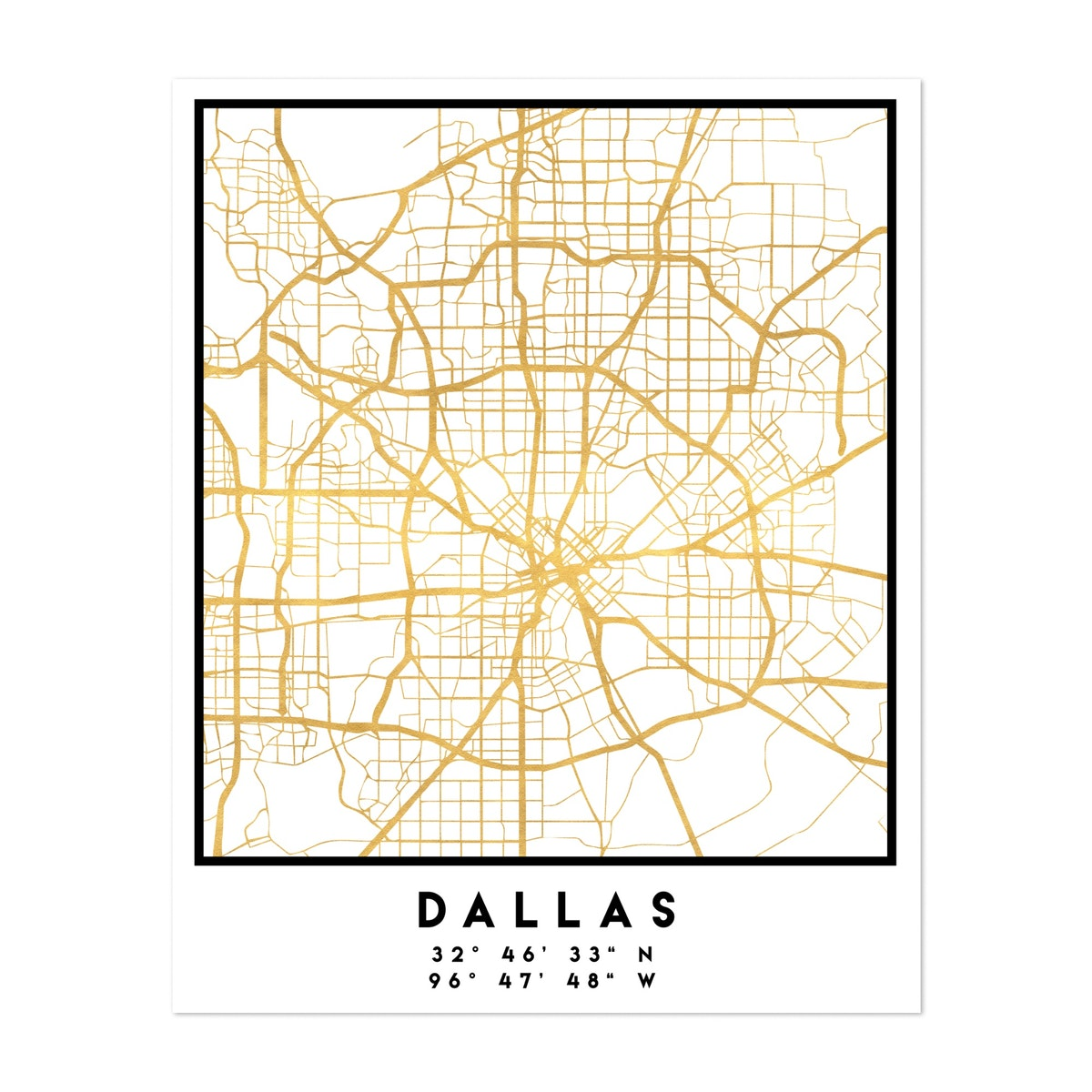 Dallas Street Map
