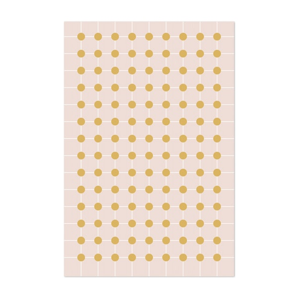 Dotted Grid in Gold by Colour Poems