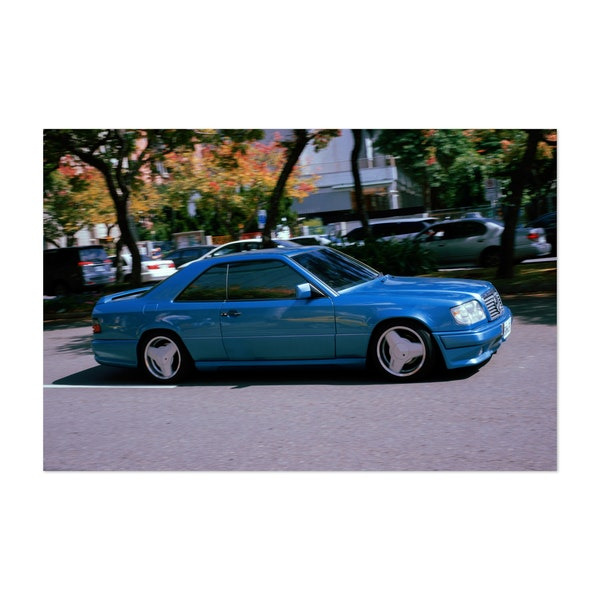 Old School Blue Mercedes by Andrew Haimerl