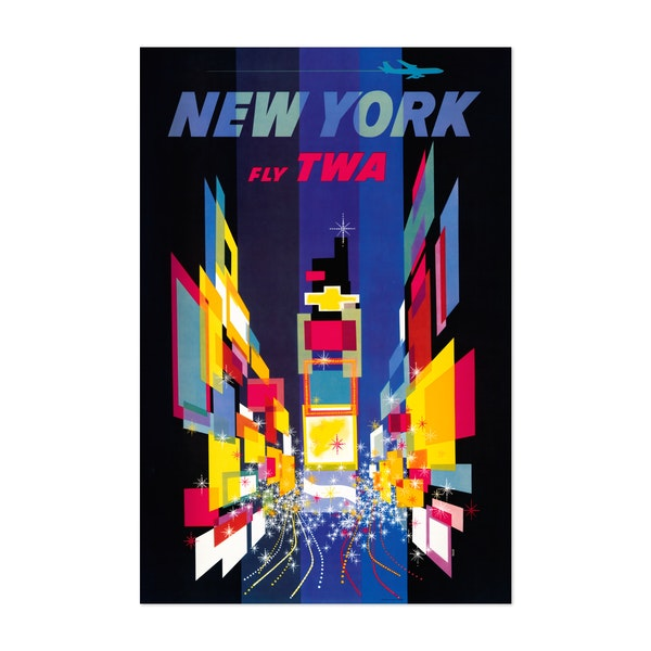 Fly TWA - New York by Noir Gallery Vintage