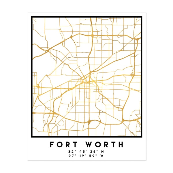 Fort Worth Street Map by Emiliano Deificus