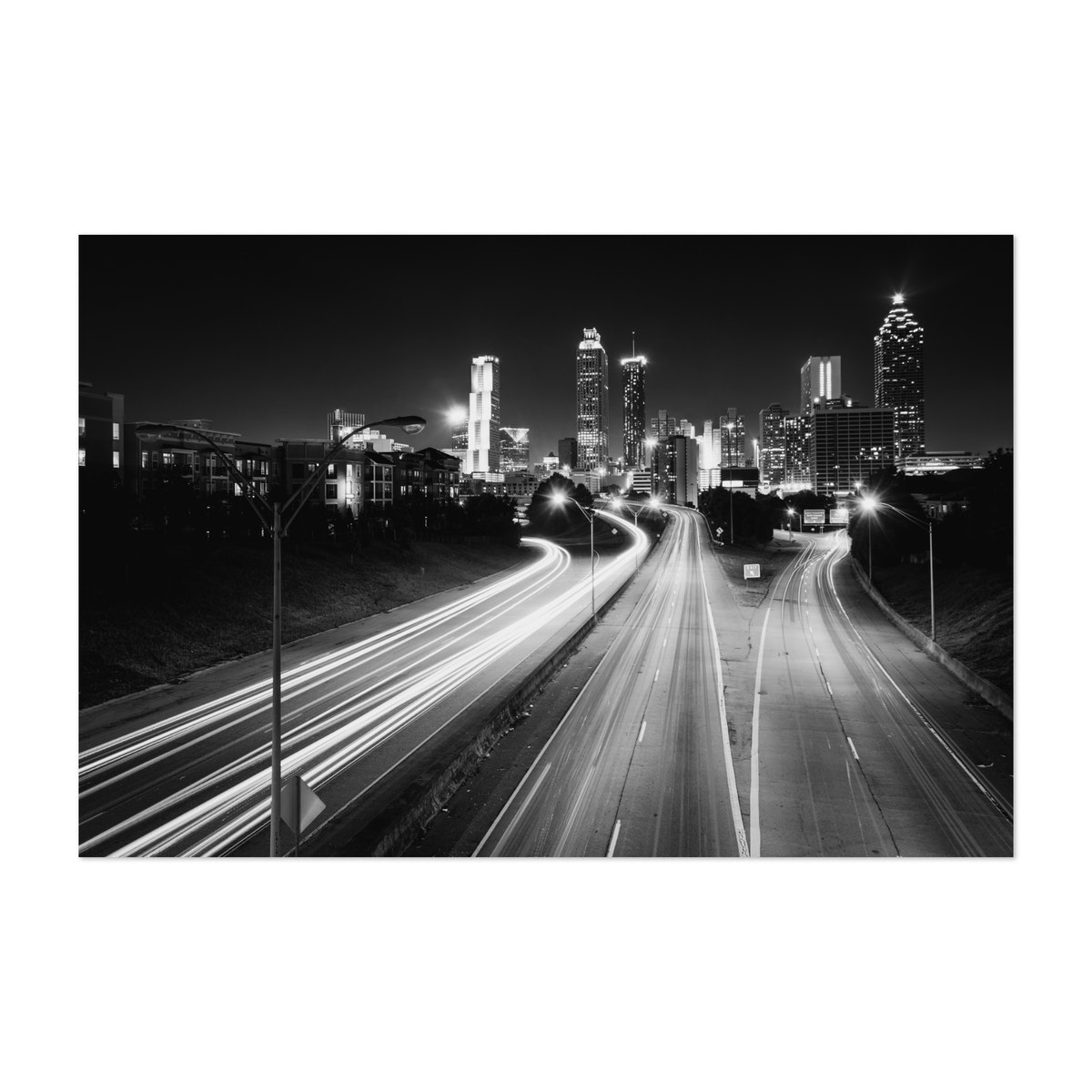 Freedom Parkway Traffic B&W