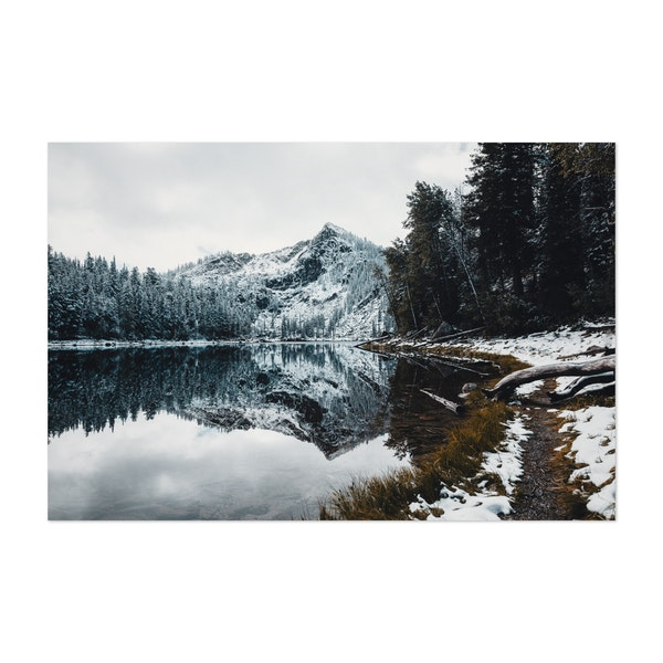 Frosted Idaho Lake by Sam Brockway