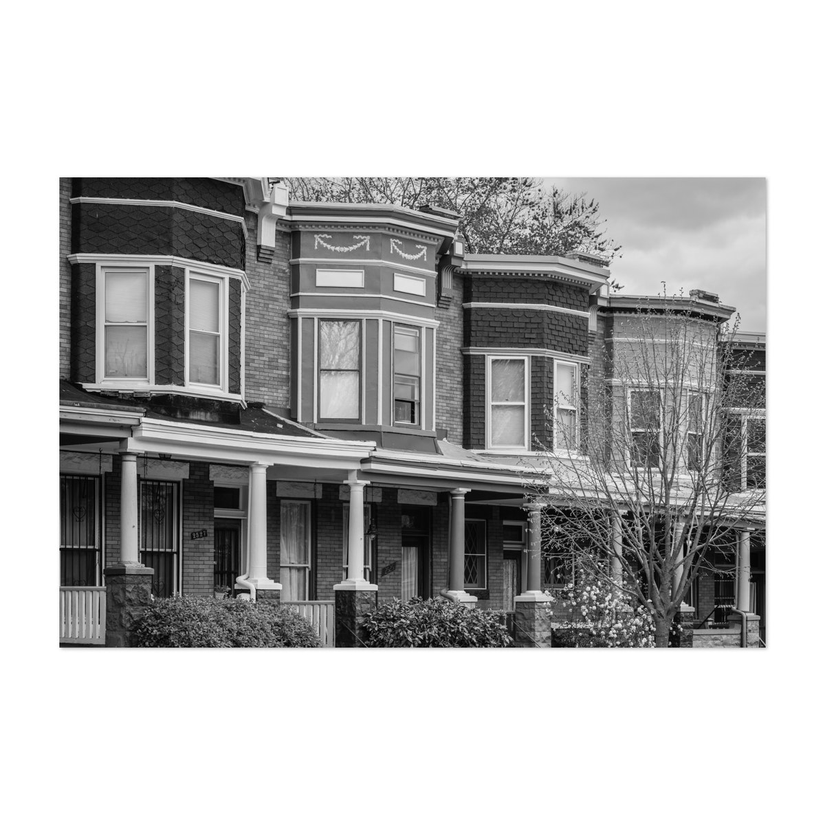 Guilford Ave Row Houses B&W