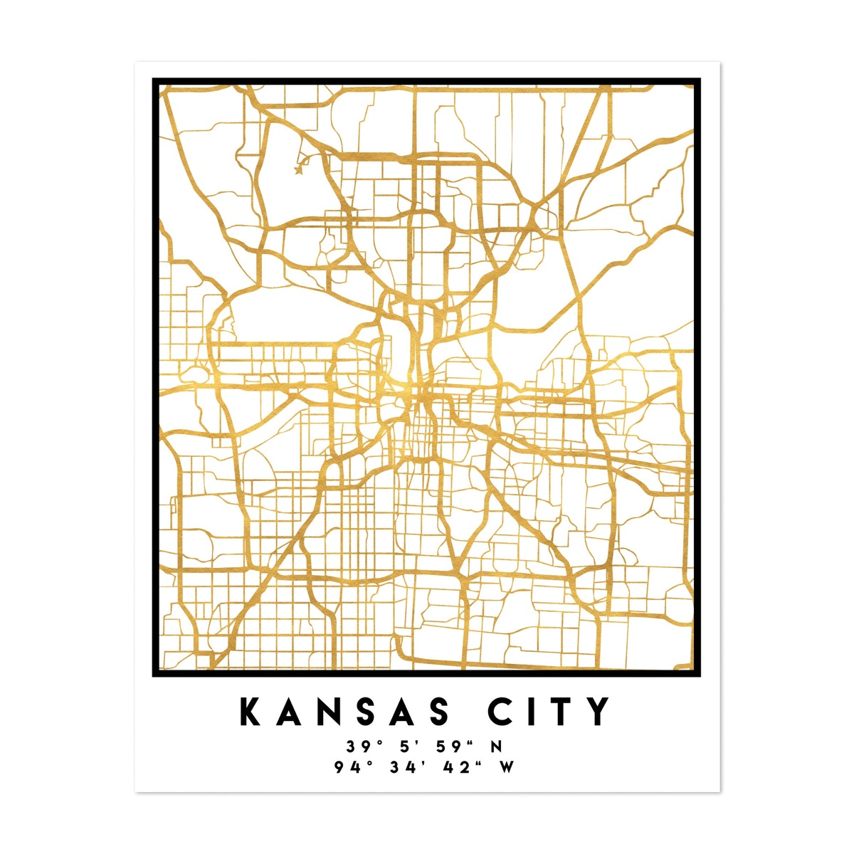 Kansas City Street Map