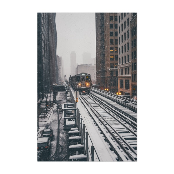 L Train in the Snow 03 by Matt Weitz