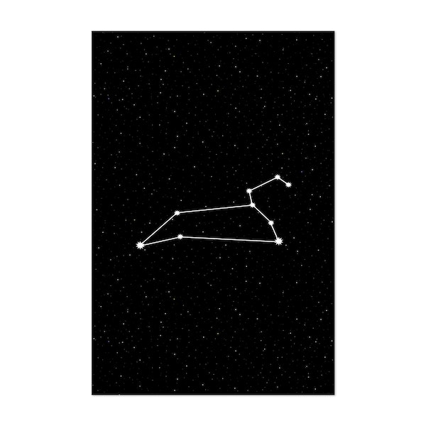 Leo Zodiac Constellation Night Sky by Beyond the Clouds