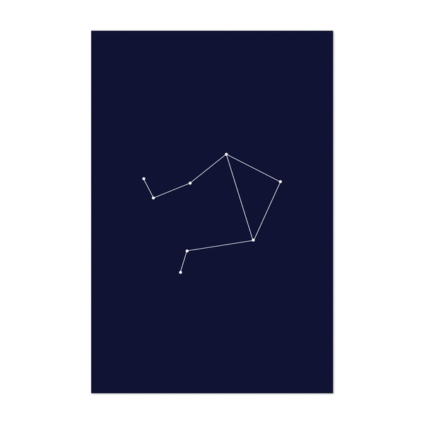 Libra Zodiac Constellation Dark Blue by Beyond the Clouds