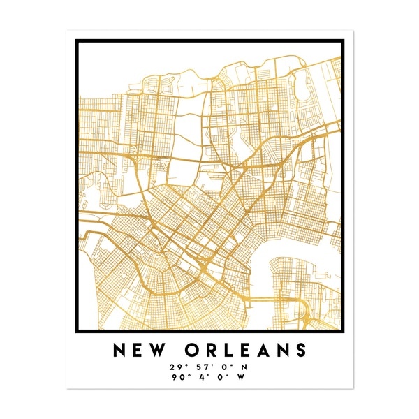 New Orleans Street Map by Emiliano Deificus