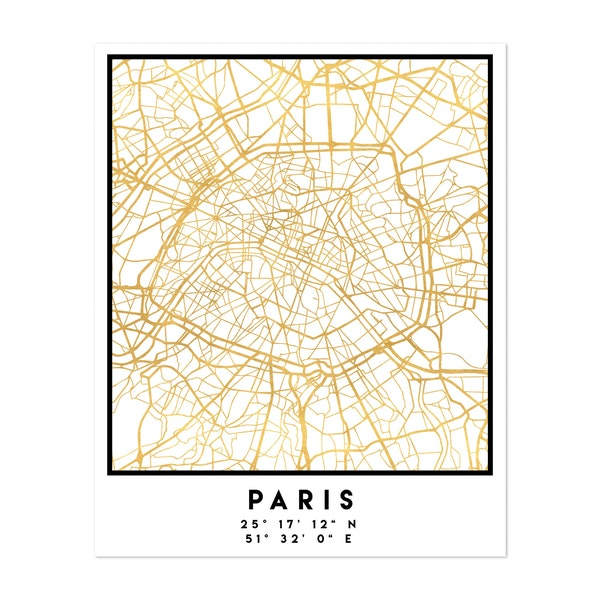 Paris Street Map by Emiliano Deificus